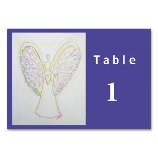 Rainbow Hearts Angel Custom Table Cards