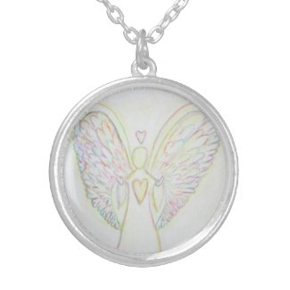 Rainbow Hearts Angel Jewelry Charm Necklaces
