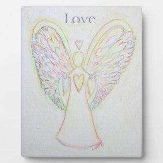 Rainbow Hearts Angel Love Art Custom Plaque