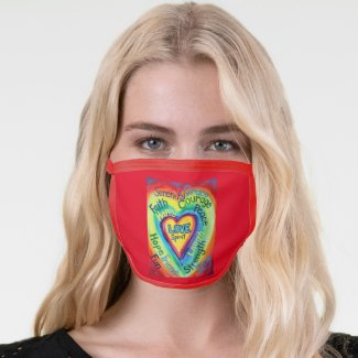 Rainbow Hearts Art Inspirational Custom Face Mask