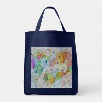 Rainbow Hearts Art Inspirational Tote Bags