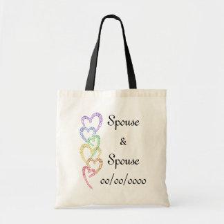 Rainbow Hearts Canvas Bags