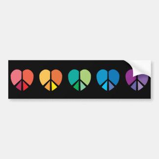 Rainbow HEARTS Bumper sticker Car Bumper Sticker