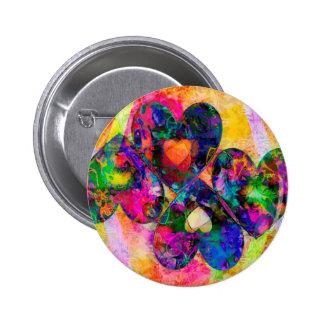Rainbow Hearts Button