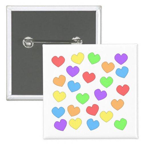 Rainbow Hearts Button 0001