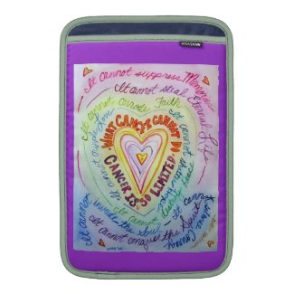 Rainbow Hearts Cancer Cannot Do iPad Sleeve Case