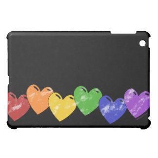 Rainbow Hearts  Case For The iPad Mini