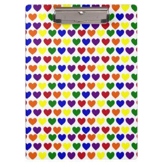 Rainbow Hearts Clipboard