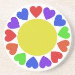 Rainbow Hearts Coaster