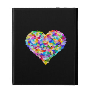 Rainbow Hearts Confetti iPad Case