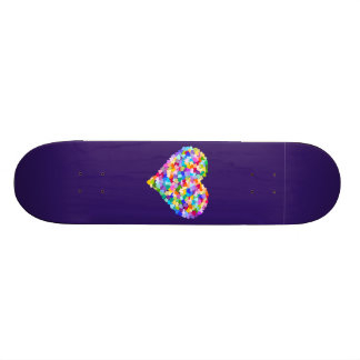 Rainbow Hearts Confetti Skateboard Deck