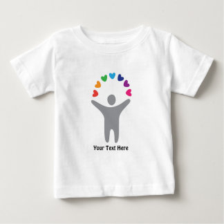 Rainbow Hearts (customizable) Baby T-Shirt