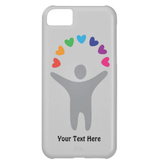 Rainbow Hearts (customizable) Case For iPhone 5C