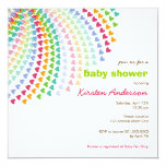 Rainbow Hearts Fun Sprinkles Baby Shower Invite