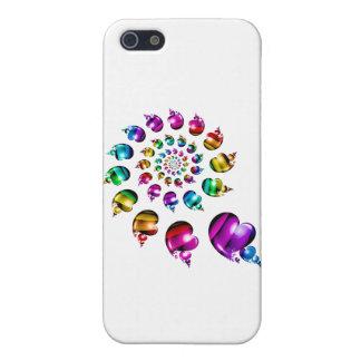 Rainbow Hearts Gay iPhone 5/5S/SE Case (White)