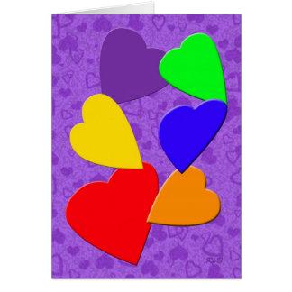 Rainbow Hearts: Gay Valentine's Day Card