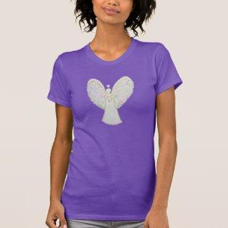 Rainbow Hearts Guardian Angel Custom Art T-Shirt