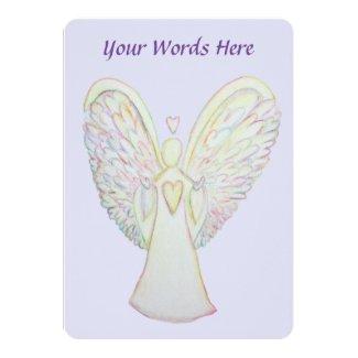 Rainbow Hearts Guardian Angel Custom Invitations