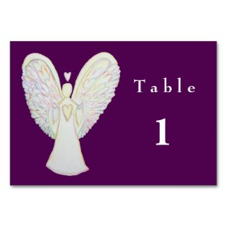 Rainbow Hearts Guardian Angel Custom Table Cards