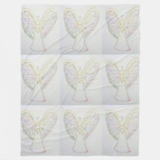 Rainbow Hearts Guardian Angel Fleece Blanket