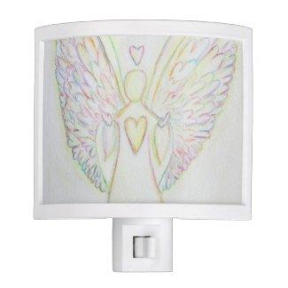 Rainbow Hearts Guardian Angel Night Light Lamp