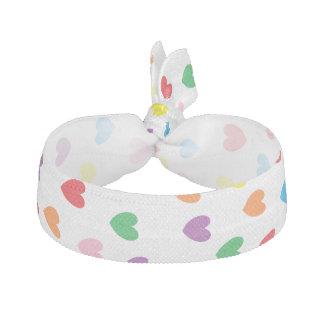 """""""Rainbow Hearts"""" Hair Tie"""