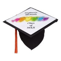 Rainbow Hearts In A Row Tassel Topper