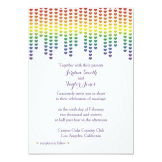 Rainbow Hearts Invitation