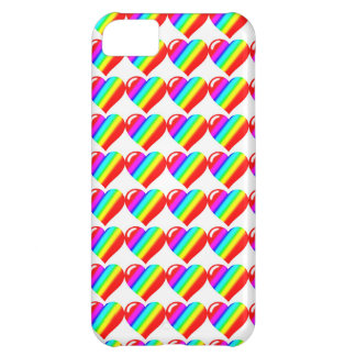Rainbow Hearts iPhone 5C Cover
