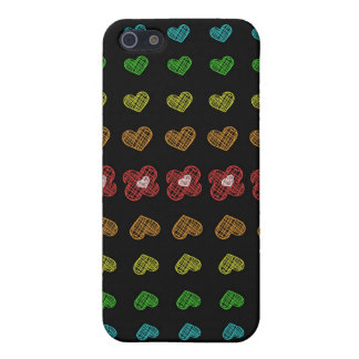 Rainbow hearts iPhone SE/5/5s case