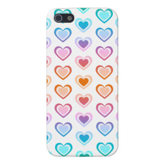 Rainbow hearts iPhone SE/5/5s cover