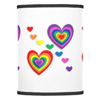 Rainbow Hearts Lamp Shade