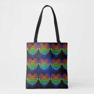 Rainbow Hearts Love PRIDE Tote Bags