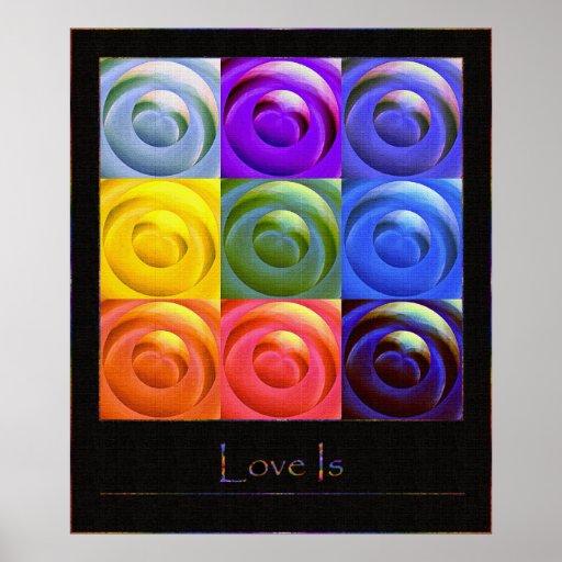 Rainbow Hearts of Love Poster