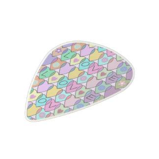 Rainbow Hearts Pattern Acetal Guitar Pick