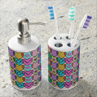 Rainbow Hearts Pattern Soap Dispensers