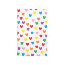 """Rainbow Hearts"" Pocket Journal"