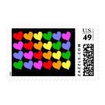 Rainbow Hearts Postage Stamp