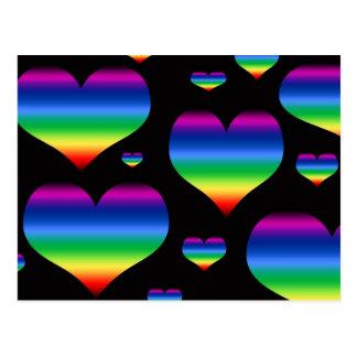 Rainbow Hearts Postcard