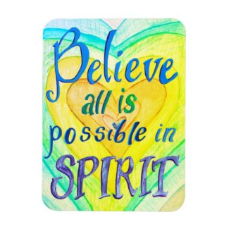 Rainbow Hearts Spirit Prayer Magnet