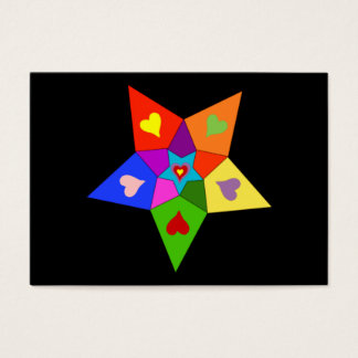 Rainbow Hearts Star Business Card