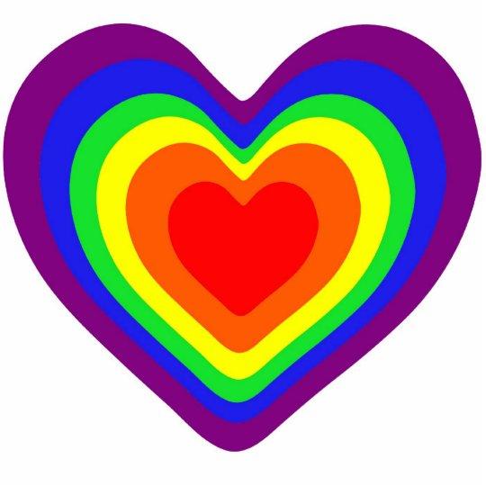 Rainbow Hearts Statuette