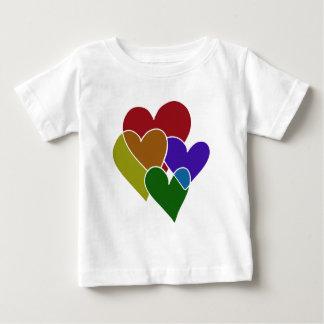 Rainbow Hearts T Shirts