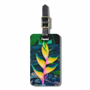 Rainbow Heliconia, Haena, Kauai, Hawaii Bag Tag