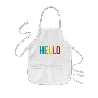 Rainbow Hello Kids' Apron