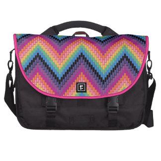 Rainbow Herringbone Bag Laptop Commuter Bag