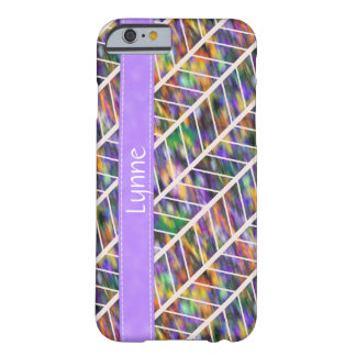 Rainbow Herringbone Pattern Barely There iPhone 6 Case