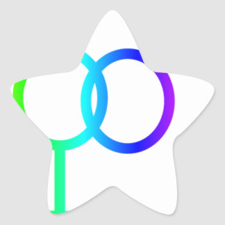 Rainbow Heterosexual Symbol #2 Sticker