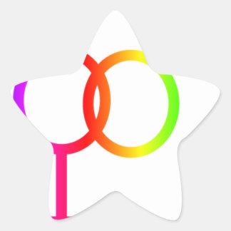 Rainbow Heterosexual Symbol Star Stickers
