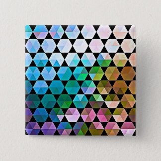 Rainbow Hex Graphic Design Button